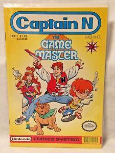 Captain N Comic Book Game Master Nintendo Comics System Valiant No. 1 VF NM 1990
