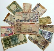 Lot of 12 Turkish Lira Banknotes Collection