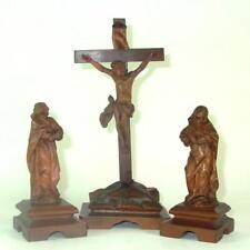 schöne Barock Kreuzigungsgruppe - Kruzifix