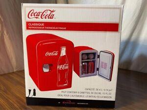 Coca-Cola 6 Can Personal Mini Fridge Cooler 120V AC 12V DC Home Car Boat NEW!