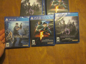 LOT 3 Resident Evil 4 - 5 & 6 PS4 Sony VIDEOGAMES NEW FACTORY SEALED SET CAPCOM