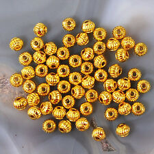 4x3mm Gold Plated Spacer Beads 60pcs (KFD85)a