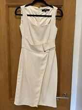Gorgeous Elisabetta Franchi Cream Sleeveless Shift Dress Size 42 UK 10
