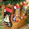Hand Stitched Vivid Teddy Bear Gifts Snowman Needlepoint Christmas Stocking