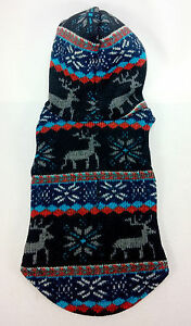 Gooby Small Breed Dog Argyle Sweater or Winter Deer Hoodie XS S M L XL - Sale