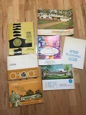 Lot Vintage House Plans Books Architectural Mid Century Homes