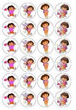 24 x Dora the Explorer Edible Cupcake Toppers Pre-Cut