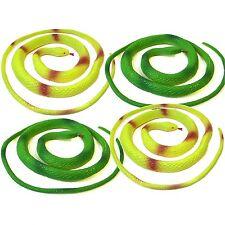 Set of 4 Coiled Plastic Snake Toys - Fun Children's Pocket Money Toys - Birthday