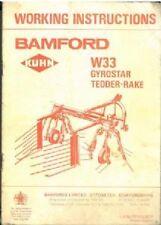 BAMFORD KUHN W33 GYROSTAR TEDDER RAKE OPERATORS MANUAL