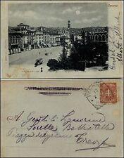 Verona, piazza Vittorio Emanuele, viag.1900, ottimo stato