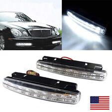 2x 8 LED 12V Daytime Running Lights Car Driving DRL Fog Light White Bright Lamps