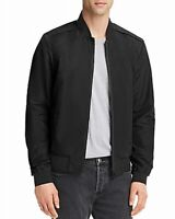 Pacific & Park Mens Jacket Black Size 2XL Solid Light Weight Bomber $98 #084