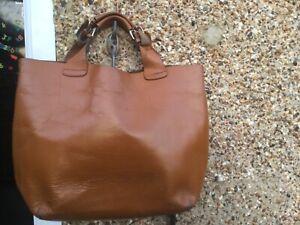 Large Zara tan leather tote