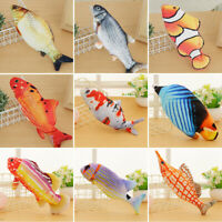 Electric Moving Cat Fish Toy Realistic Flopping Wiggle Interactive Fish GIft