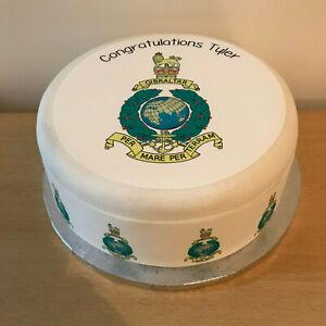 Royal Marines pre-cut Edible Icing Cake Topper or Ribbon