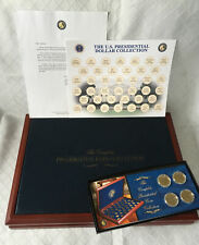 Franklin Mint - The Complete Presidential Coin Collection Display Case & 4 coins
