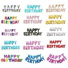 "Happy Birthday 16"" Foil  Balloons Letter Balloon Kids Birthday Party Decoration"