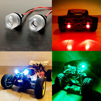LED Headlight Lámpara Luz Set Para 1/8 1/10 Traxxas TRX-4 SCX10 D90 RC Crawler