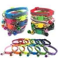 Safety Release Reflective Cat Kitten Collar Hi-Vis Adjustable Bell Anti-Choke UK