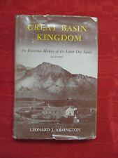 GREAT BASIN KINGDOM.  LEONARD ARRINGTON.  FIRST EDITION! AUTHOR INSCRIBED!(1958)