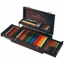 Faber-Castell Art & Graphic Collection in a Mahogany Veneer Wooden Case - 110086
