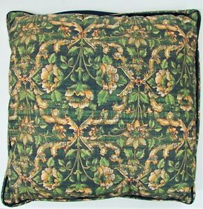 "SHERIDAN AUSTRALIA Throw Pillow 16"" x 16"" Kartouche Collection Green Floral"