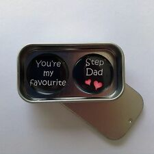 Fathers Day Card Alternative, Favourite Step Dad Magnet Gift Set, Handmade