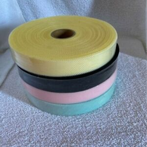 """Set of 4 Rolls of Bridal Horsehair Fabric 2"""" whide"""