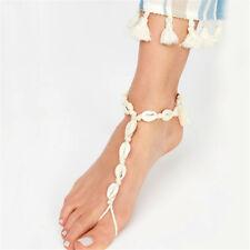 Vintage Boho Ankle Chain Natural Shell Bohemian Women cowrie Bare Foot Bracelet