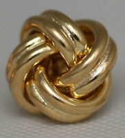 CLASSIC Italian LOVE KNOT Solid 14K Yellow Gold Stud Earrings 2.6g/15mm