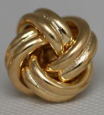 CLASSIC Italian LOVE KNOT Solid 14K Yellow Gold Stud Earrings 2.6g/15mm