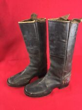 Original Civil War Cavalry Soldiers Boots Still has Side Pulls Great Condition