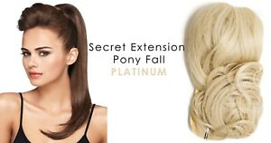"""Secret Extensions Daisy Fuentes 22"""" Pony Fall Synthetic Hair Platinum Accessory"""