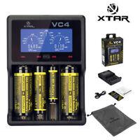 Xtar VC4 USB Li-ion/Ni-MH Battery Charger LCD Display  For 18650 26650 32650  #