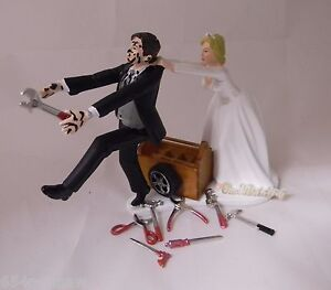 Wedding Reception ~Mechanic Tools~ Grease Tire Tool Box  Cake Topper Shop Garage