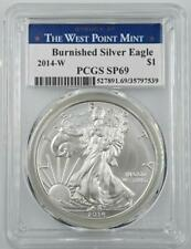 2014-W $1 Burnished American Silver Eagle PCGS SP69 West Point Core