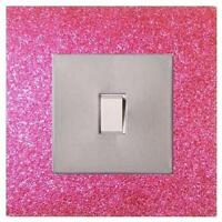 metallic glitter light switch surrounds plates covers easyfit self adhesive