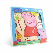 Milly  Flynn Peppa Pig Princess Wooden Puzzle Tray