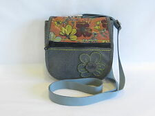Haiku Icy Grey/Blue/Multi Color Embossed Faux Leather Cross Body/Clutch - GR8!