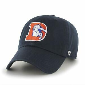 Denver Broncos '47 Brand Throwback Logo Clean Up Adjustable Hat- Navy