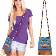 Hippie Handbag Hippy Rainbow CND Bag 60s 70s Fancy Dress Costume Accessory