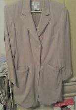 Women's size 12 Coat Camel By Newport News Long Blazer Dress Jacket  mco