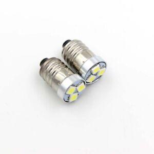 2pcs LED Upgrade Bulb 200LM 2/3/4 C/D Flashlight Torch Bike Lamp E10 3V 4.5V 6V