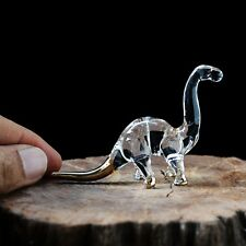 New Diplodocus Dinosaur Hand Blown Glass Figurine Decor Cute Gift Collectibles