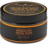 3 pack Shea Moisture African Black Soap Problem Skin Facial Mask 4 oz (2c)