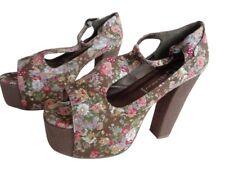 Jeffrey Campbell Women's Foxy Shoes - Khaki Floral UK 6 EU 39 BRAND NEW  £79.99