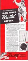 Vintage ad 1939 Bristol Bamboo Fly Rods & Reels Color Man Cave Art
