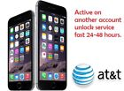 IPHONE FACTORY UNLOCK SERVICE Active on Another Account ATT All iphone models