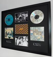 The Stone Roses/Oasis Framed Montage-Limited Edt-Ian Brown-Noel Gallagher