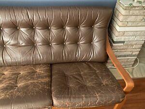 TESSA T6 3 Seater Mid Century Chocolate Brown Lounge